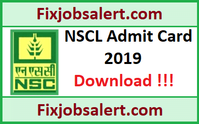 NSCL Trainee Admit Card 2019 @ indiaseeds.com National Seeds Corporation Exam Date, Hall Ticket