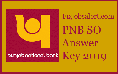 PNB SO Answer Key 2019 Specialist Officer 24th March Paper Solution ~ Cut Off