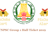 TNPSC Group 1 Hall Ticket 2019 @ tnpsc.gov.in Exam Date & Call Letter ~ Admit Card