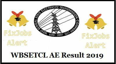 WBSETCL AE Result 2019 @ wbsetcl.in Assistant Manager Cut Off ~ Merit List