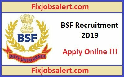 BSF Head Constable Recruitment 2019 Apply for 1072 Constable Posts