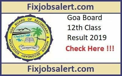 Goa Board 12th Class Result 2019 Name Wise @ gbshse.gov.in