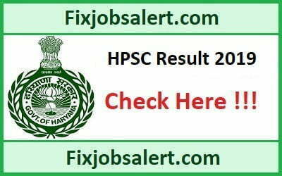 HPSC Civil Services Result 2019 Haryana (Ex. Br.) Other Allied Services Results Date, Cut Off
