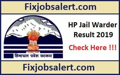 HP Jail Warder Result 2019 @ hpprisons.nic.in HP Prison Warder Cut Off
