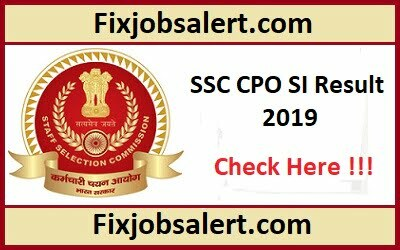 SSC CPO Sub Inspector Result 2019 @ ssc.nic.in SSC SI Expected Cut-off