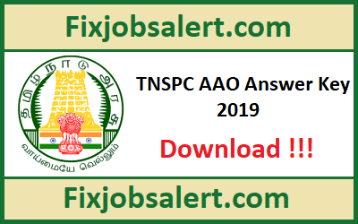 TNPSC AAO Answer Key 7th April 2019 Paper Solution, Cut Off