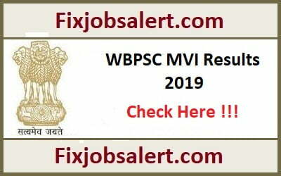 WBPSC MVI Result 2019 @ pscwbonline.gov.in West Bengal MVI Non-Technical Results, Cut Off