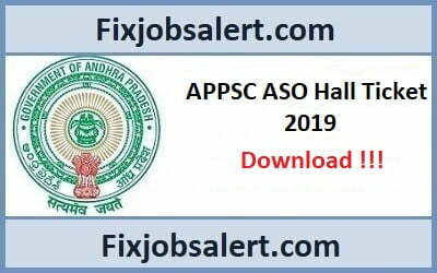 APPSC ASO Hall Ticket 2019 @ psc.ap.gov.in AP Asst Statistical Officers Exam Date