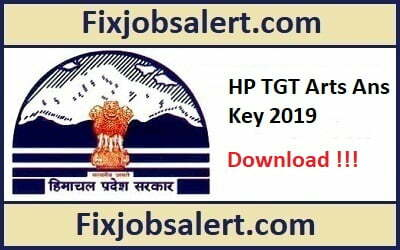 HPSSSB TGT Arts Answer Key 11th May 2019 Question Paper Solution Post Code 699 & 700