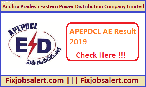 APEPDCL AE Result 2019 @ apeasternpower.com Assistant Engineer Merit List, Cutoff