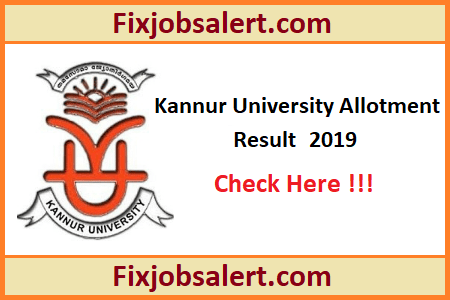 Kannur University PG Second Allotment Result 2019 @ cap.kannuruniversity.ac.in KU PG Admission Results