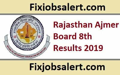 Rajasthan Ajmer Board 8th Results 2019 @ rajeduboard.rajasthan.gov.in RBSE 8th Class Result ~ Name Wise