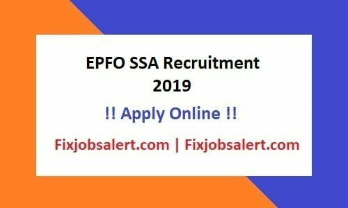 EPFO SSA Recruitment 2019 Apply for 4000 Social Security Assistant Post @ epfindia.gov.in