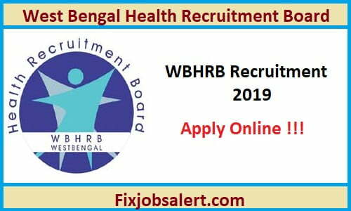 WBHRB GDMO Recruitment 2019 Apply Online For 1098 General Duty Medical officer Post
