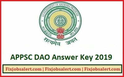 APPSC DAO Answer Key 2019 7th July Exam Divisional Accounts Officer Grade 2 Paper Solution ~ Cut Off