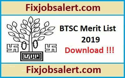 Bihar BTSC Staff Nurse Merit List 2019 Download BTSC Selection List @ btsc.bih.nic.in