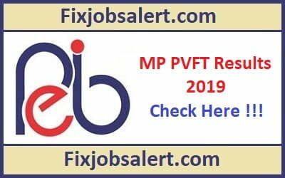 MP PVFT Result 2019 @ peb.mp.gov.in MP PVFT Cut Off Marks, Merit List