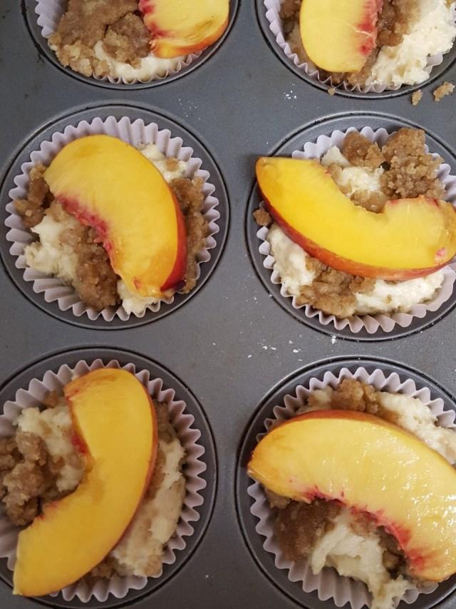 nectarine coffee cake muffin prebake