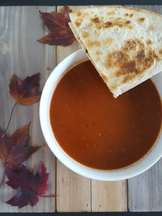black-garlic-tomato-soup-and-black-bean-squash-quesadilla