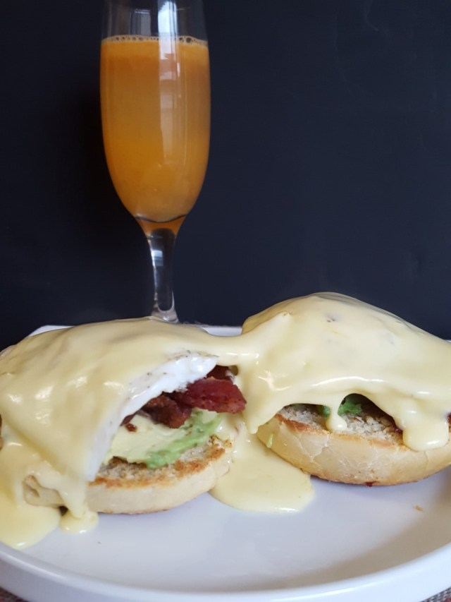 Bacon Avocado Eggs Benedict