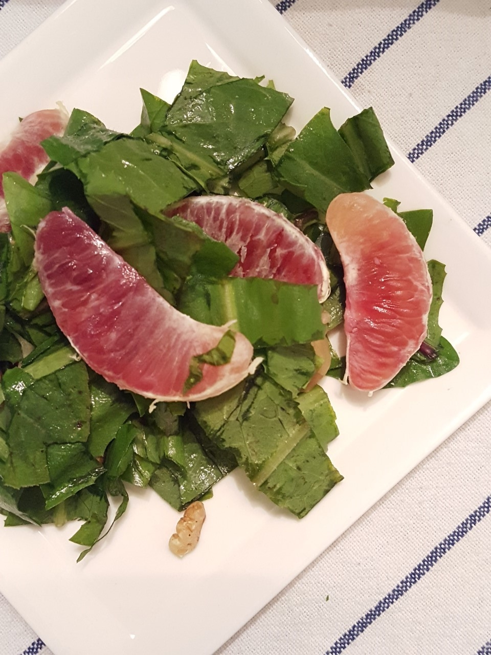 Blood Orange, Walnut, and Bitter Greens Salad