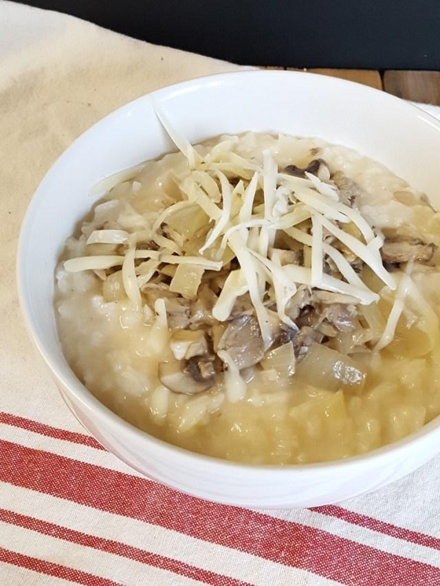 triple mushroom truffle risotto
