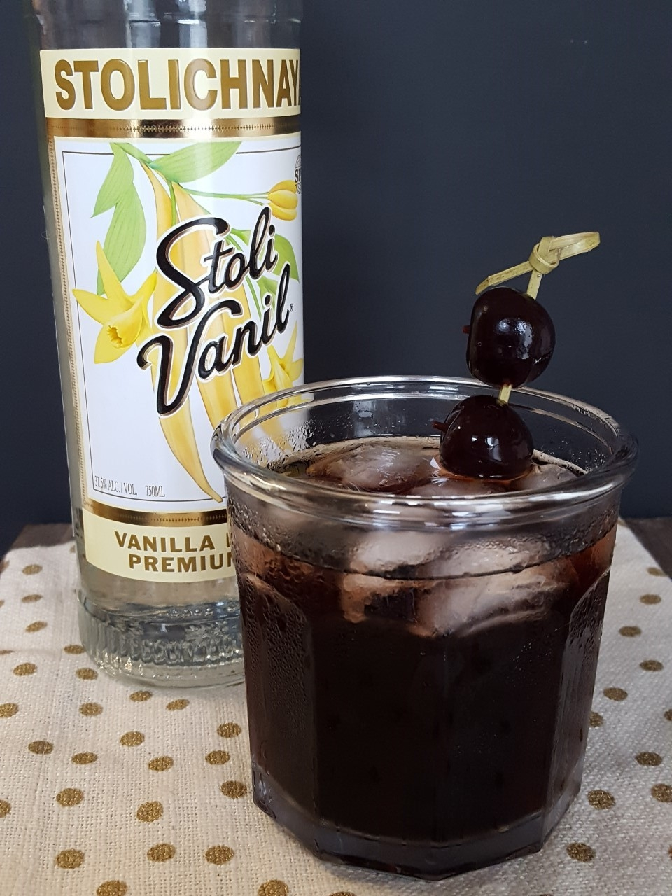 Cherry Vanilla Vodka Cola Cocktail