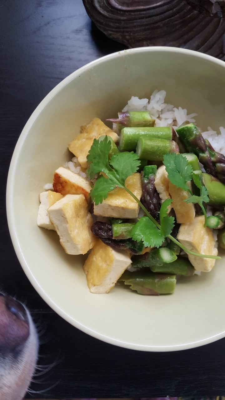 Asparagus Tofu Green Curry