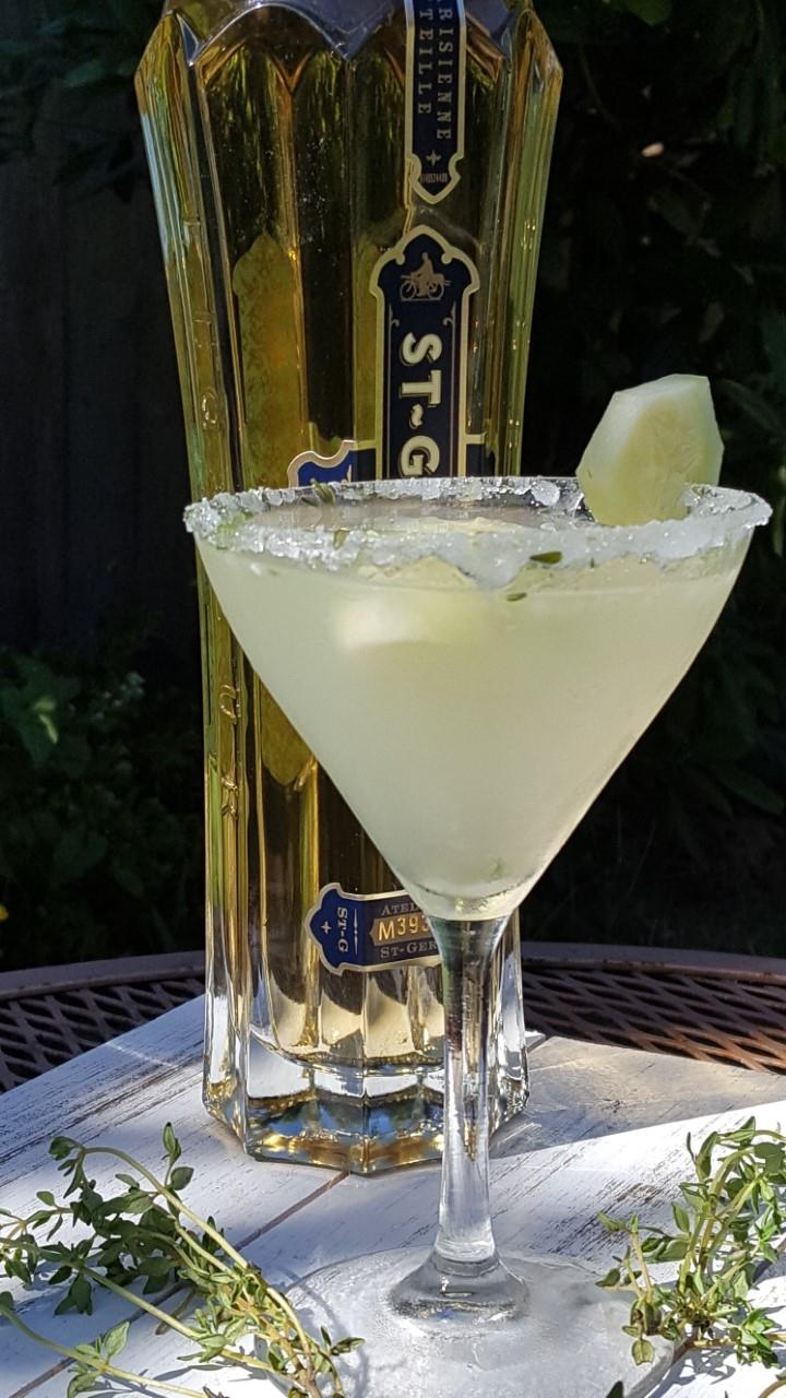 thyme cucumber martini