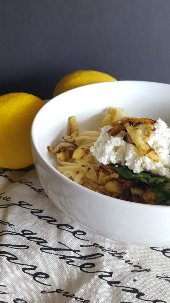 Fried Lemon Fennel Linguine