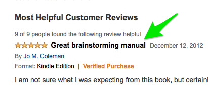 Amazon Review Header