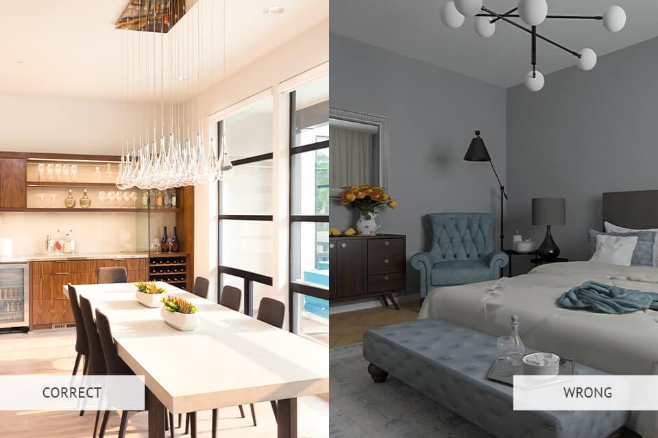 real estate photography lighting