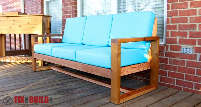 How To Build A DIY Modern Outdoor Sofa