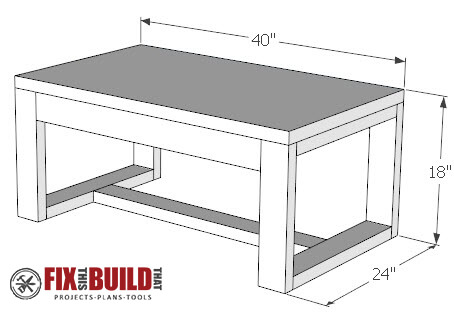 DIY Concrete Top Outdoor Coffee Table Plans | Fix This ... on Coffee Table Plans  id=48183