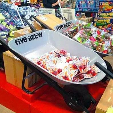 Wheelbarrows as Bulk Merchandising Bins