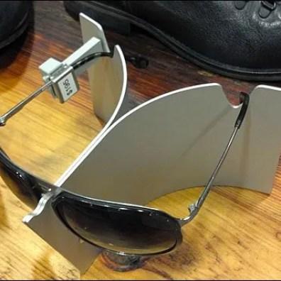 Swept Wing Sunglass Stand Closeup