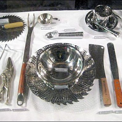 Tools as Holiday Table Setting at Coles Aux 2