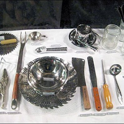 Tools as Holiday Table Setting at Coles Aux 3