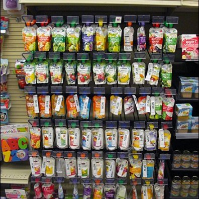 Baby Food Pouch Merchandised Aux