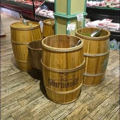 Gourmanoff Produce Branded Barrel Bulk Bins 2