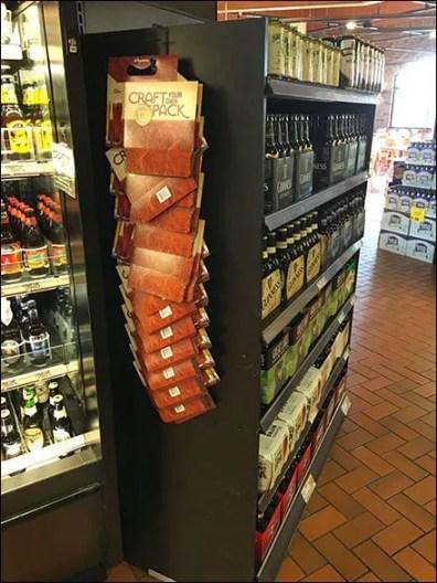 craft beer strip merchandising fixtures close up