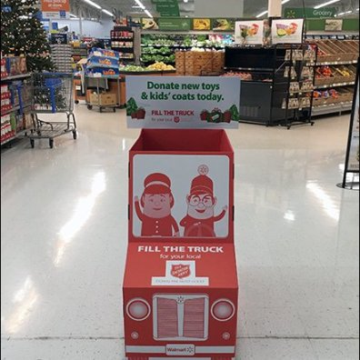 Salvation Army Corrugated Truck Charitable Display