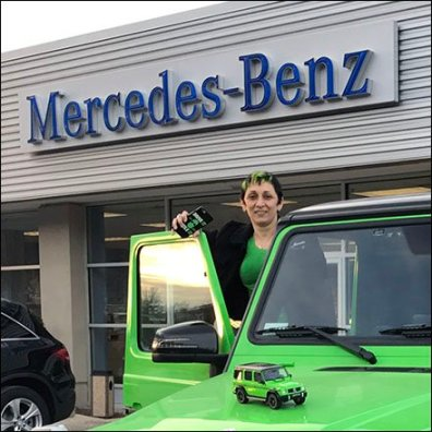 Mercedes Benz G63 AMP Alien Green Scale Model 3