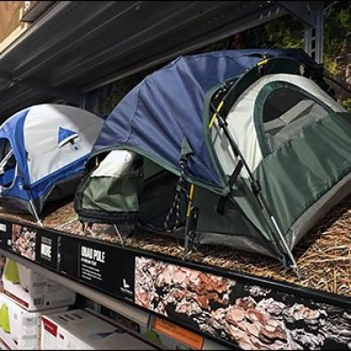 Shelf-Edge Camping Tent Miniatures 2