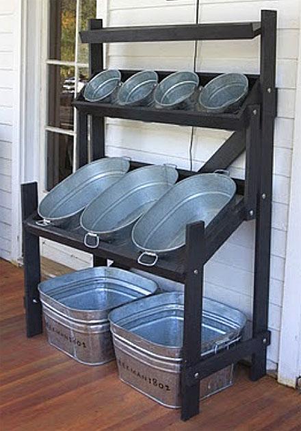 wash tubs make the best bulk bin displays fixtures close up. Black Bedroom Furniture Sets. Home Design Ideas