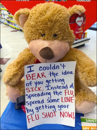 Flu Bear Display Message