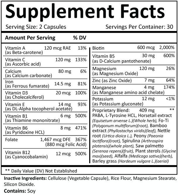Folexin Supplement Facts