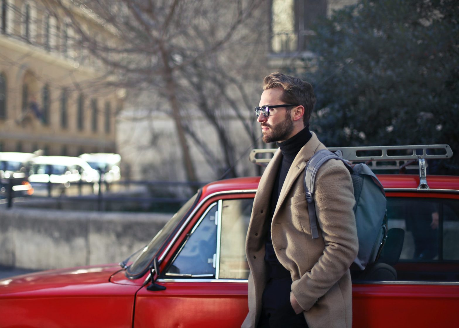 Handsome gentleman looking away with sunglasses - Avoidant Attachment