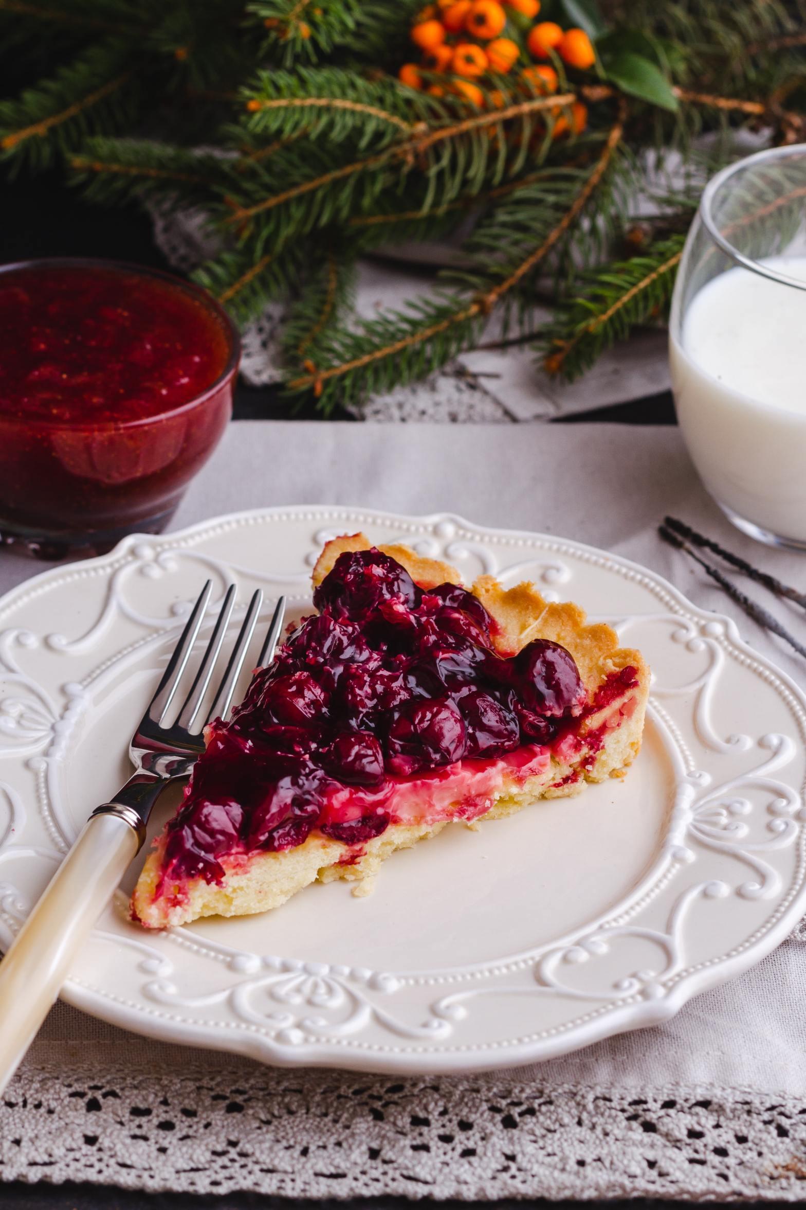 """Slice of cherry pie to represent """"humble pie."""""""