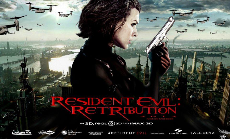 Resident Evil: Retribution International Quad Poster